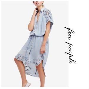 NWT • Free People • Cut It Out Midi Dress